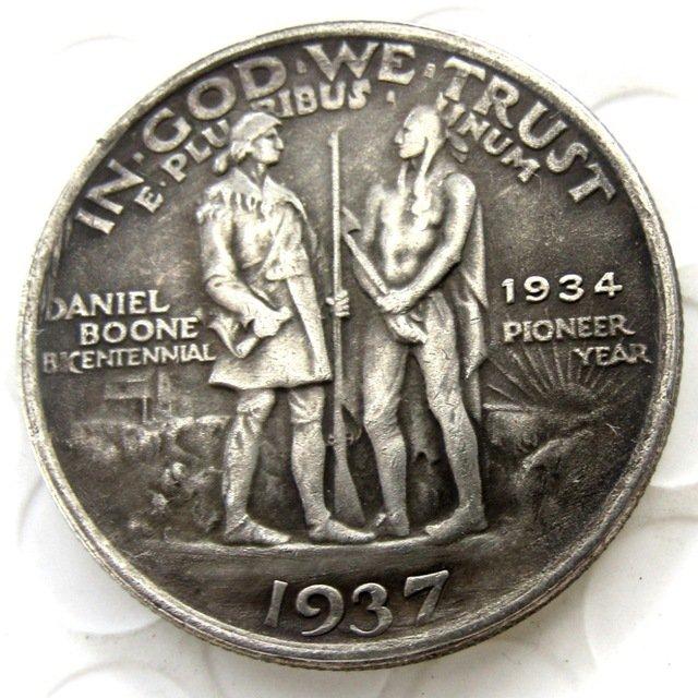 1937 Daniel Boone Bicentennial commemorate half dollar copy coin