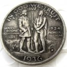1936D Daniel Boone Bicentennial commemorate half dollar copy coin