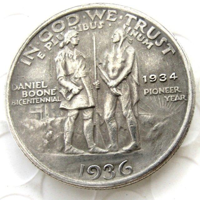 1936 Daniel Boone Bicentennial commemorate half dollar copy coin