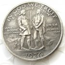 1936 Daniel Boone Bicentennial commemorate half dollar copy coin