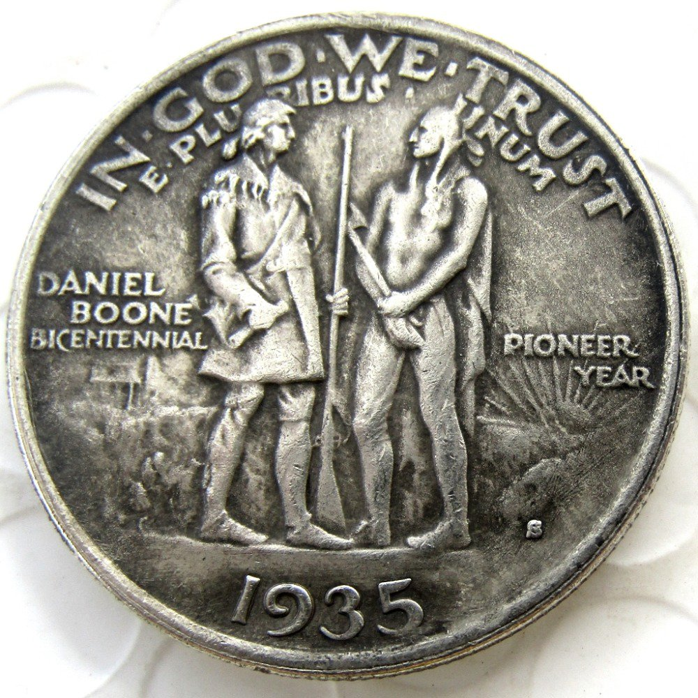1935S Daniel Boone Bicentennial commemorate half dollar copy coin