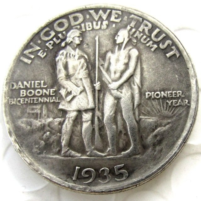 1935 Daniel Boone Bicentennial commemorate half dollar copy coin