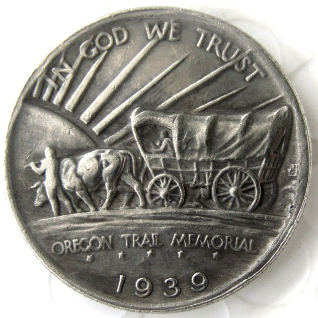 1939D OREGON TRAIL COMMEMORATIVE HALF DOLLARS COPY COIN