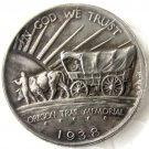 1938D OREGON TRAIL COMMEMORATIVE HALF DOLLARS COPY COIN