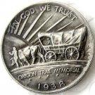 1938S OREGON TRAIL COMMEMORATIVE HALF DOLLARS COPY COIN