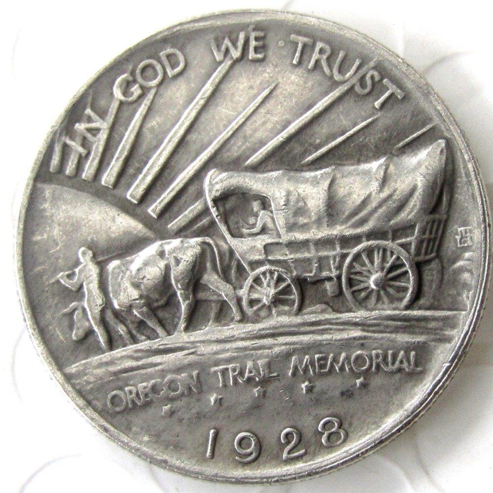 1928 OREGON TRAIL COMMEMORATIVE HALF DOLLARS COPY COIN