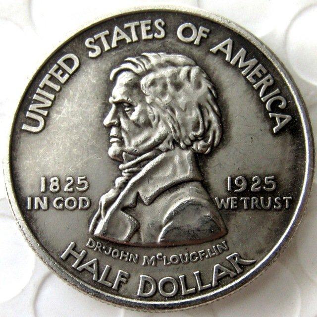 US 1925 Fort Vancouver Commemorative Half Dollar Copy Coin