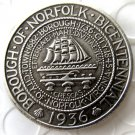 US 1936 Norfolk Commemorative Half Dollar Copy Coin