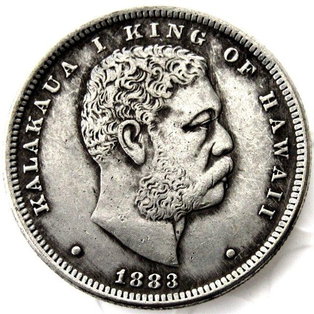 1883 1/2D Hawaii CHOICE AU Copy coins