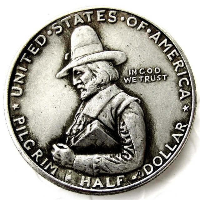 1920 Pilgrim Commemorative Sliver Half Dollar Rare Coins copy