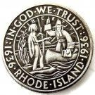 1936 S Rhode Island Silver Half Dollar Coin Copy