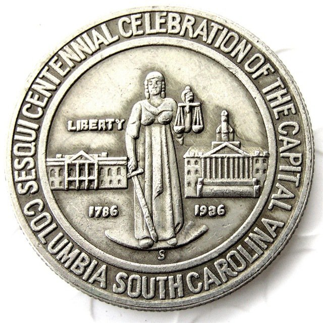 1936 Columbia Silver Half Dollar Commemorative Coin Copy