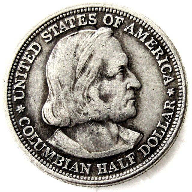 1893 half Dollar Columbian Exposition copy coins