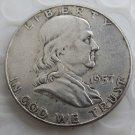 1957 Franklin Silver Half Dollar copy coins