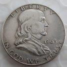 1963D Franklin Silver Plated Half Dollar Coins Copy