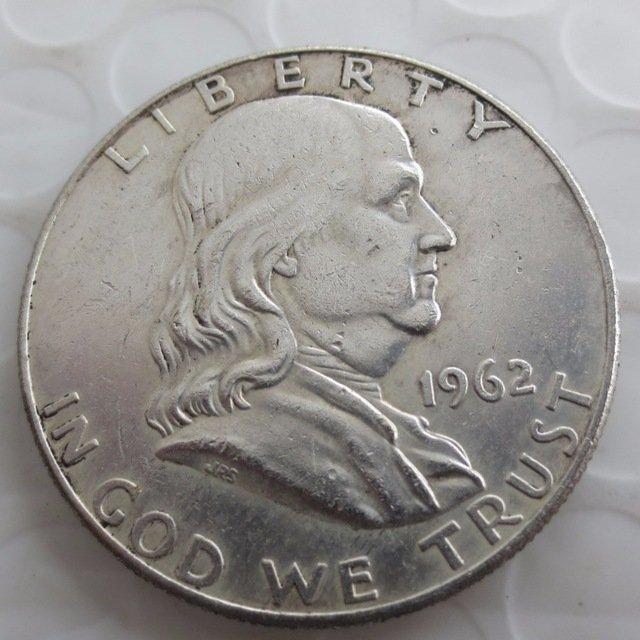 1962D Franklin Silver Plated Half Dollar Coins Copy