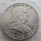 1962 Franklin Silver Plated Half Dollar Coins Copy