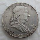 1960D Franklin Silver Plated Half Dollar Coins Copy
