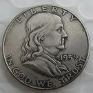 1959S Franklin Silver Plated Half Dollar Coins Copy