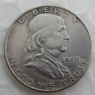1959 Franklin Silver Plated Half Dollar Coins Copy