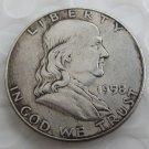 1958 Franklin Silver Plated Half Dollar Coins Copy