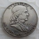 1956 Franklin Silver Plated Half Dollar Coins Copy