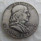 1954S Franklin Silver Plated Half Dollar Coins Copy