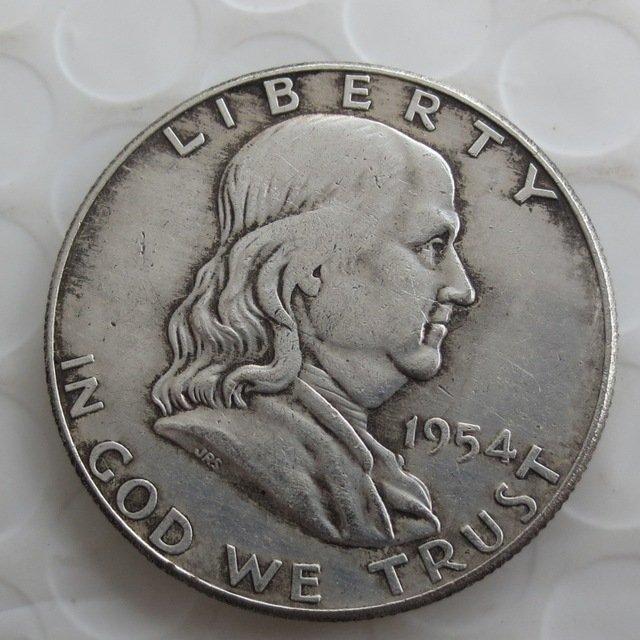 1954D Franklin Silver Plated Half Dollar Coins Copy
