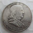 1954 Franklin Silver Plated Half Dollar Coins Copy