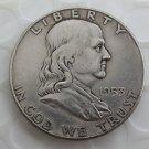 1953D Franklin Silver Plated Half Dollar Coins Copy