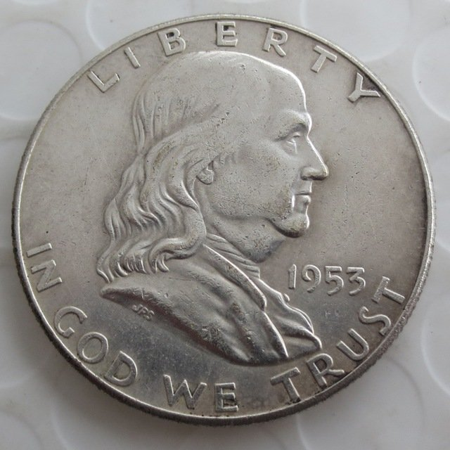 1953 Franklin Silver Plated Half Dollar Coins Copy