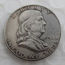 1952S Franklin Silver Plated Half Dollar Coins Copy