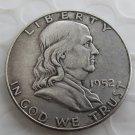 1952D Franklin Silver Plated Half Dollar Coins Copy