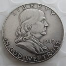 1949D Franklin Silver Plated Half Dollar Coins Copy