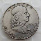 1949 Franklin Silver Plated Half Dollar Coins Copy