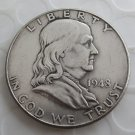 1948D Franklin Silver Plated Half Dollar Coins Copy