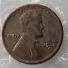 1931-SVDB (The VDB In The Bottom Shoulder) LINCOLN ONE CENTS Copy Coins