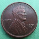 United States 1951-D Lincoln Head Cent Copy Coins