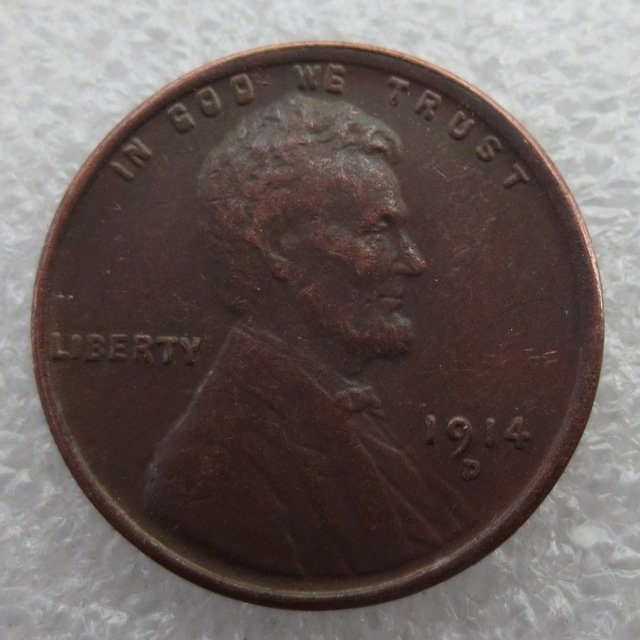 United States 1914-D Lincoln Head Cent Copy Coins