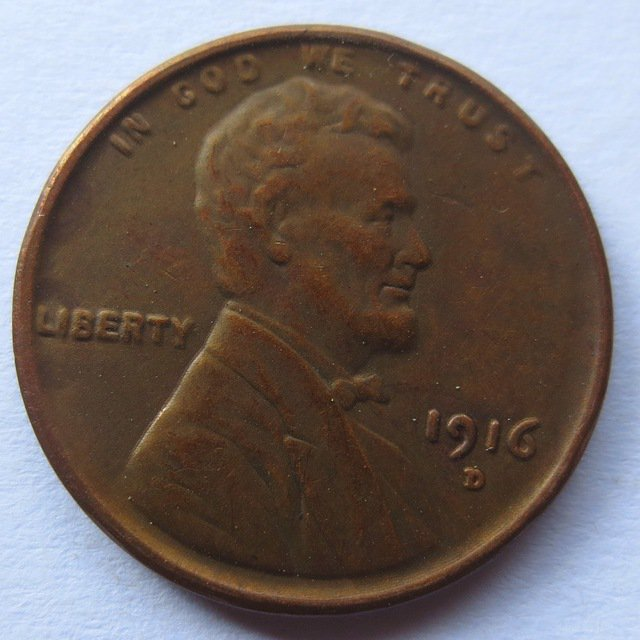 United States 1916-D Lincoln Head Cent Copy Coins
