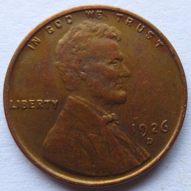 United States 1926-D Lincoln Head Cent Copy Coins