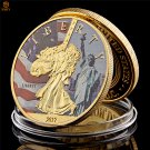 Statue Of Liberty Bronze Statue National Monument World Cultural Gold Copy Coin For Collection