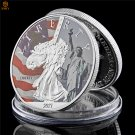 USA Statue Of Liberty Silver Plated Commemorative Copy Coin For Collection