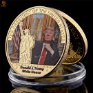 US President's Coin 24k Gold Plated Donald Trump World Celebrity Copy Coin For Collection