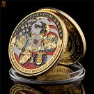 USA Navy USAF USMC Army Coast Guard American Free Eagle Gold Military Copy Coin For Collection