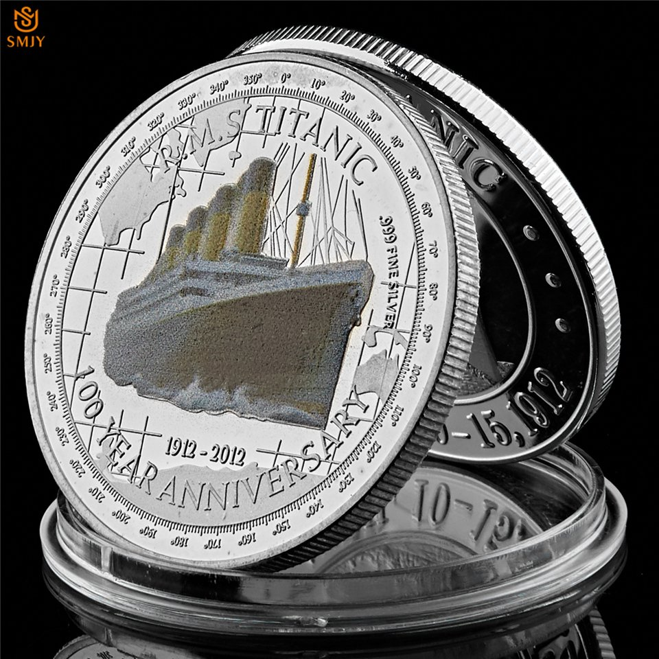 1912-2012 R.M.S Titanic 100 Year Anniversary Memory Queen Elizabeth II Copy Coin For Collection