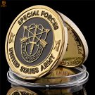 US Army Liberate From Oppression USA Special Forces Gold Plated Copy Coin For Collection