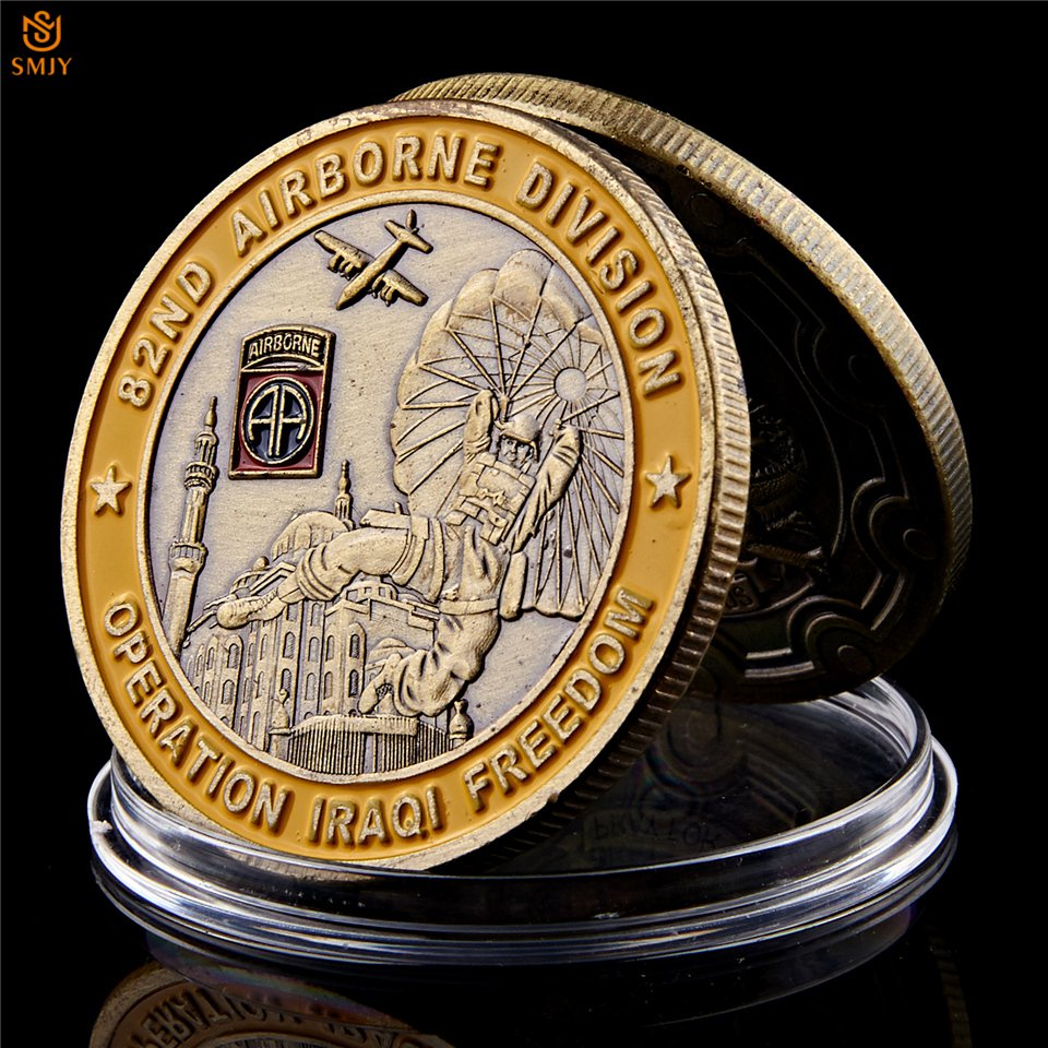 Saint George Operation Iraqi Freedom 82nd Airborne Division Military Copy Coin For Collection