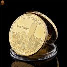 2001.9.11 World Trade Center Building Terrorist Attack History Review Gold Copy Coin For Collection