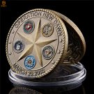 2003 Operation New Dawn Saint George Pray For Us USA Souvenir Bronze Copy Coin For Collection